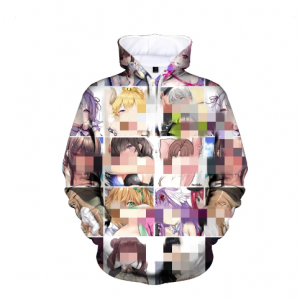 Ahegao Hoodies Japan Anime Hentai Funny Girl