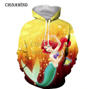 New Harajuku Cartoon The Little Mermaid hoodies