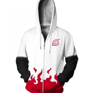 Fasion Anime Zipper Hoodies Men